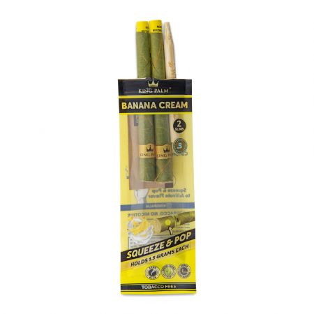 KING PALM 2 SLIM ROLLS- BANANA CREAM